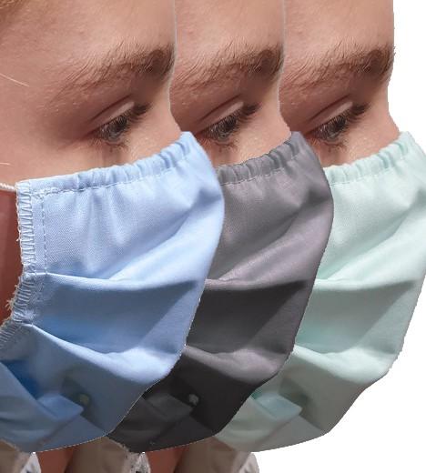 Maska bawełniana wzór medyczny (wielokrotnego użytku)