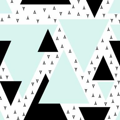 trójkąty seledyn