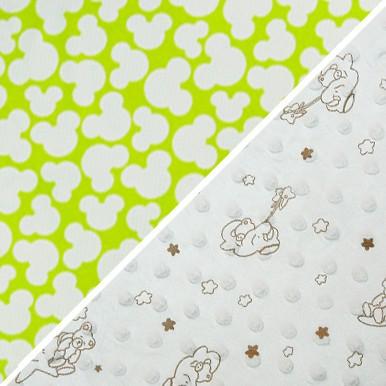 mickey zielone / biały bąbelki