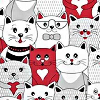 koty w kinie czerwone
