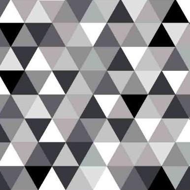 trójkąciki czarne białe