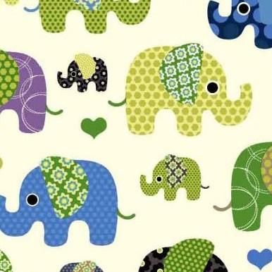 słonie żółte
