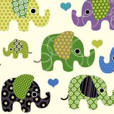 tetra słonie zielone