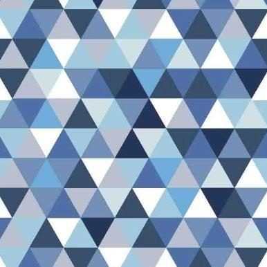 trójkąciki niebieskie granat