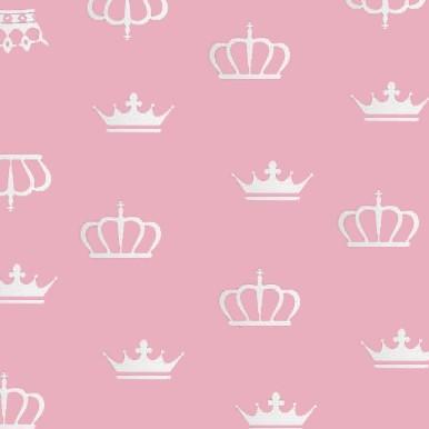 korony na różowym