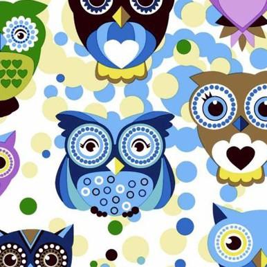 niebieskie sowy