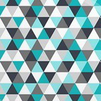 trójkąciki turkusowe