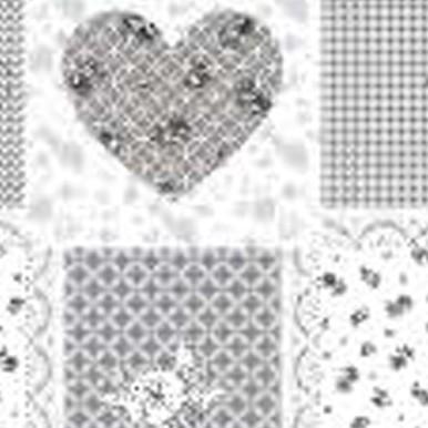 mozaika serca szare