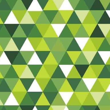 trójkąciki zielono białe
