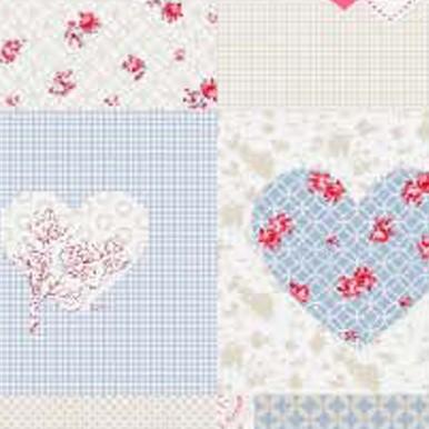 mozaika serca róż